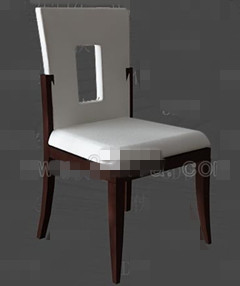 White openwork back chairs 3D Model
