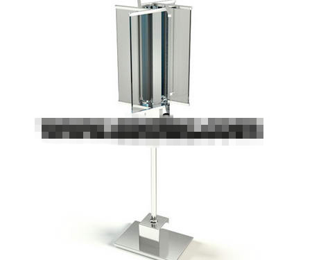 Wind turbine style glass lamp 3D Model