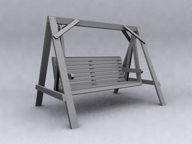 Wood swing 3D models