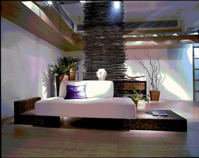 Wooden base cushion sofa 3D Model