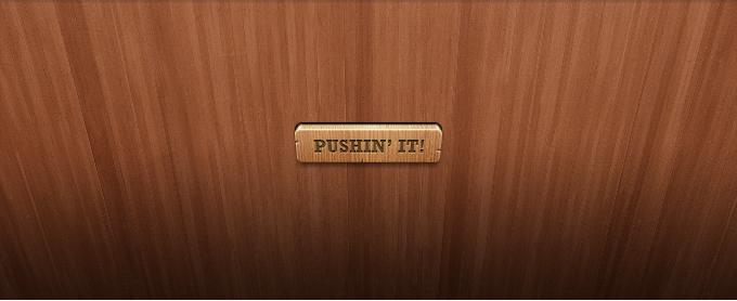 Wooden Button PSD