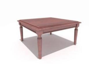 Wooden Hotel desk 3D Model