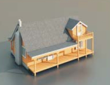 Wooden houses and buildings -70 3D Model