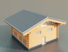 wooden houses / Architectural Model-3 3D Model