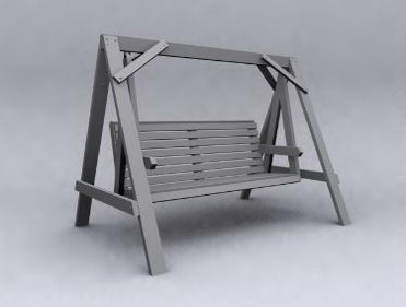 Wooden model of leisure 3D Model