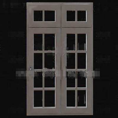 Wooden simple with transoms door 3D Model