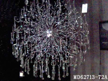 Wrought iron crystal chandelier 3D Model