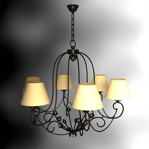 Wrought iron flower droplight 3D models