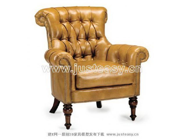 Yellow boss sofa 3D model (including materials)
