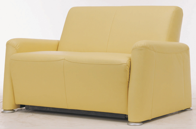 Yellow cloth art sofa double 3D models
