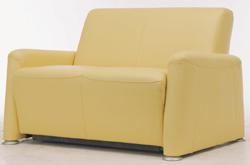 Yellow cloth art sofa double 3D models