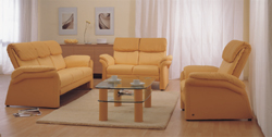 Yellow living room sofa at home combined 3D model (including materials)