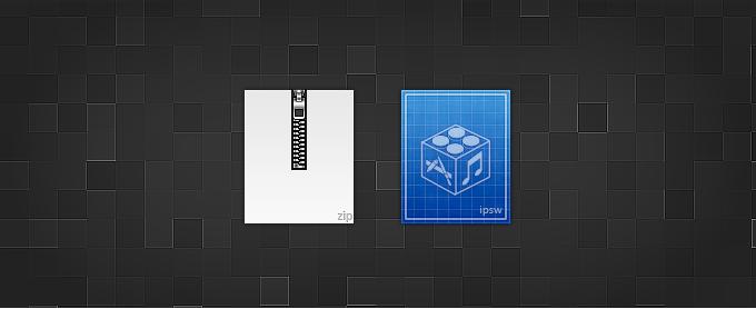 Zip and IPSW Icons PSD