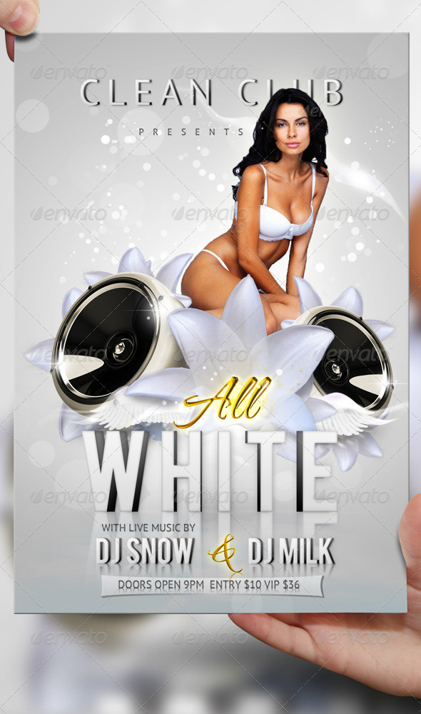 The All White Party Flyer Template PSD will download as a .psd file ...
