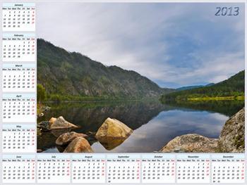Calendar For 2013 Free JPG