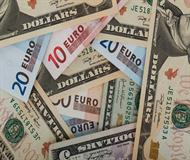 Dollars And Euros Background