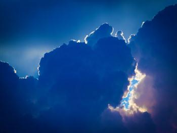 Dramatic Blue Clouds Free JPG