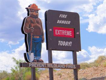 Fire Danger Sign Free JPG