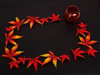 Halloween Leaf Frame Free JPG