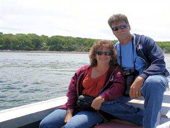 Happy Couple On Boat