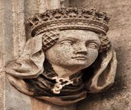 Head Statue On Building