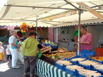 Market Stall With People