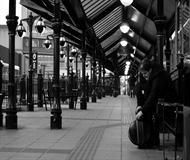 Morning Bus Station