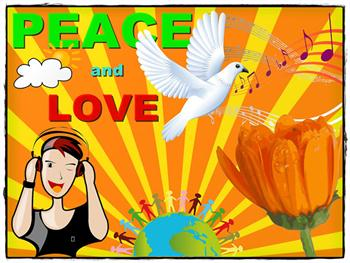 Peace And Love Card Free JPG