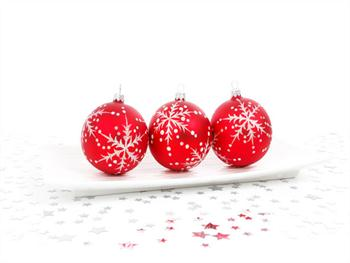 Red Bauble Decoration Free JPG