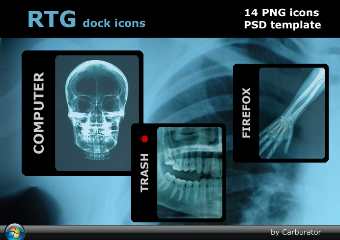 RTG dock icons PSD