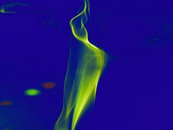 Silhouette Of Colored Smoke