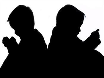 Sitting Children – Silhouette