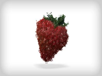 Strawberry Of Particles Free JPG