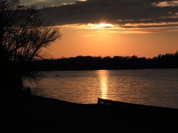 Sunset Over Lake Free JPG