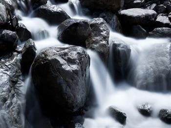 Waterfall Among Rocks Free JPG