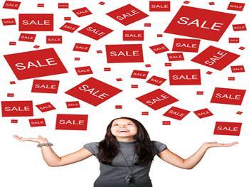 Woman Enjoying Sales