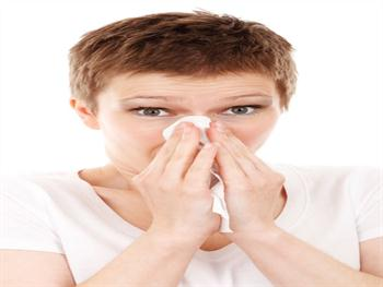 Woman With A Cold Or Allergy Free JPG