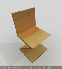 3d personalized chair model