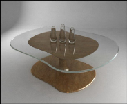 3D tea table model