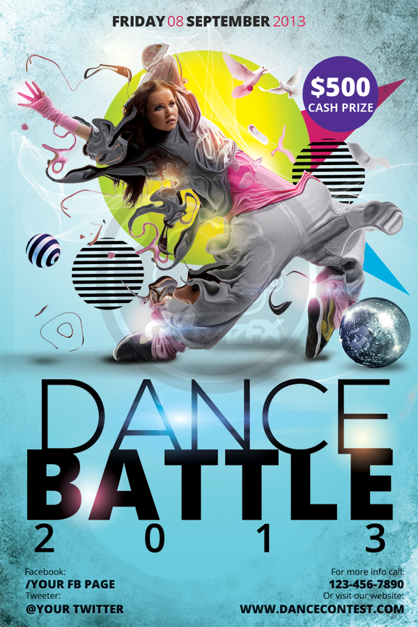Dance Battle Flyer Template | Free download