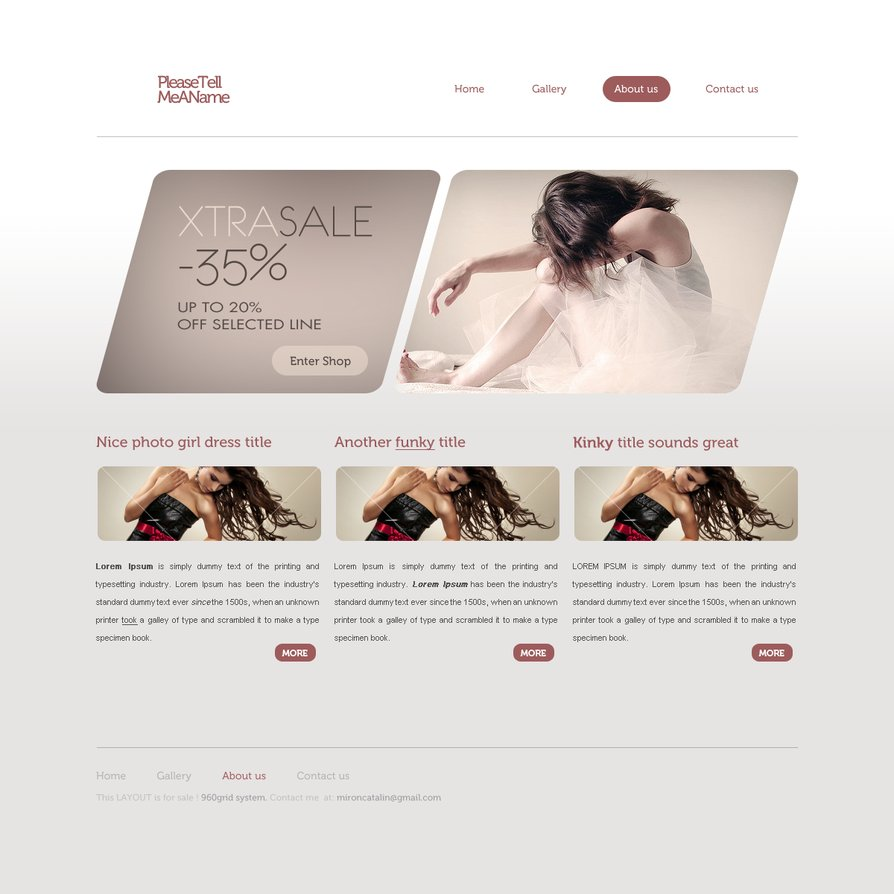 Free PSD and HTML for Christmas GIFT Something new