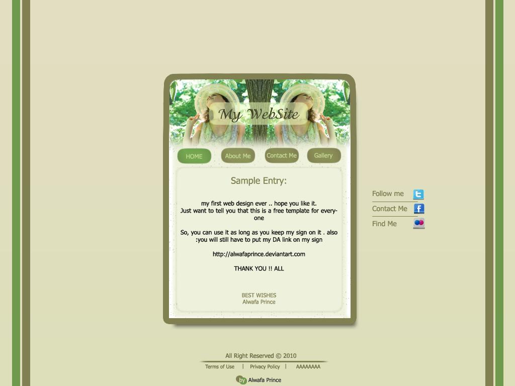 1024x768 Website Template Free Template Personal Website