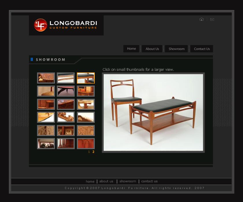 Furniture Site Template PSD
