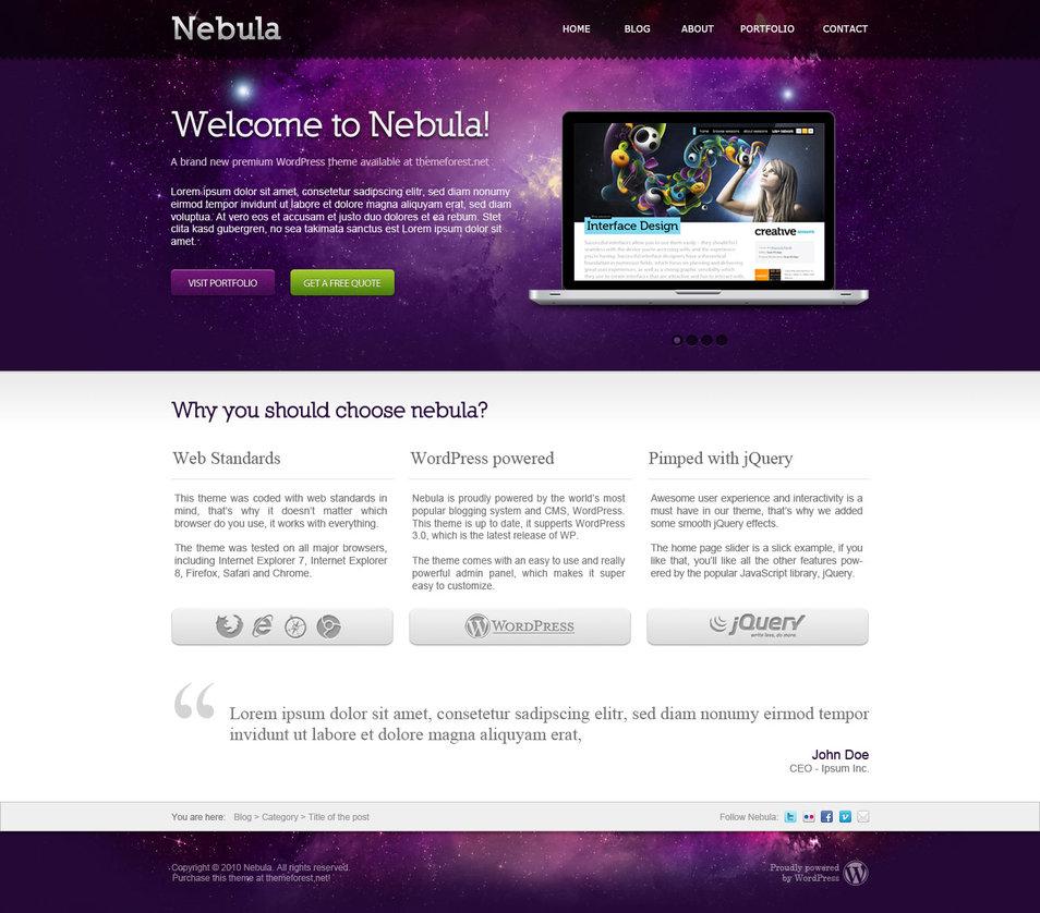 Nebula PSD Template