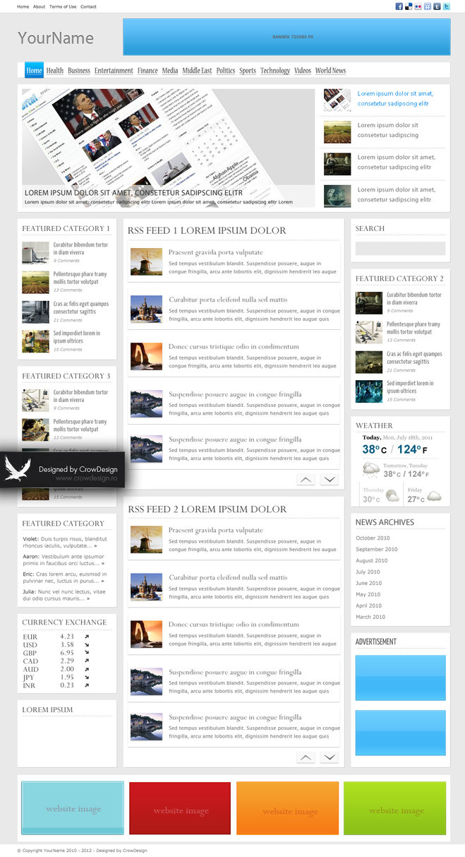 News Layout PSD