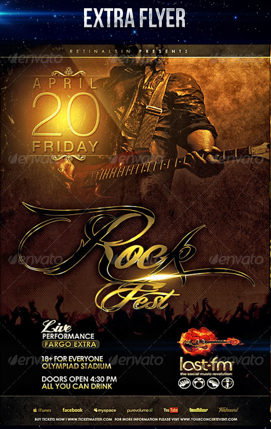 Rock Fest Flyer PSD