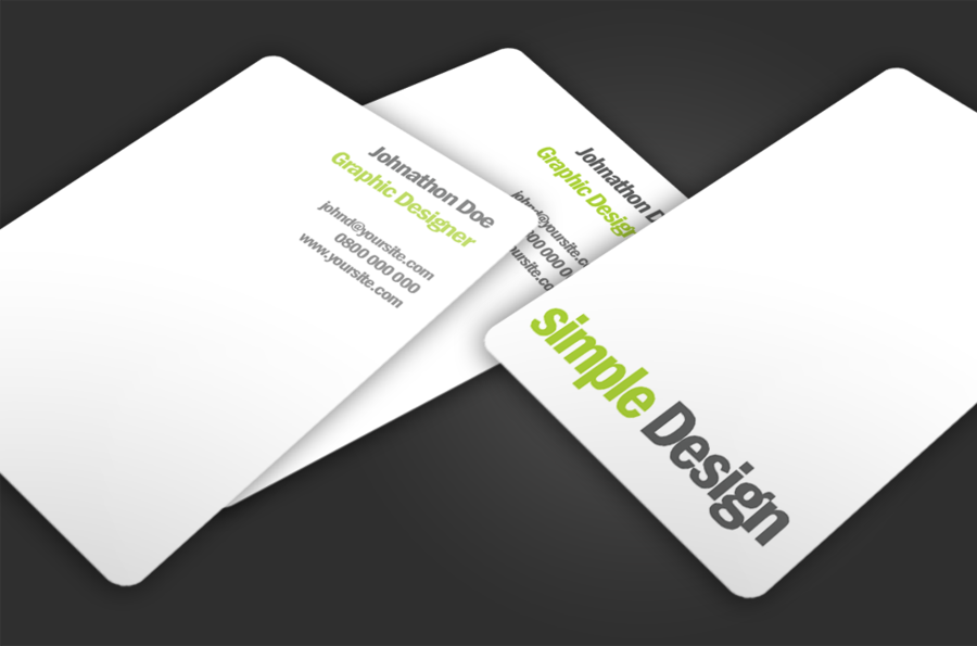 simple Design Free business card template