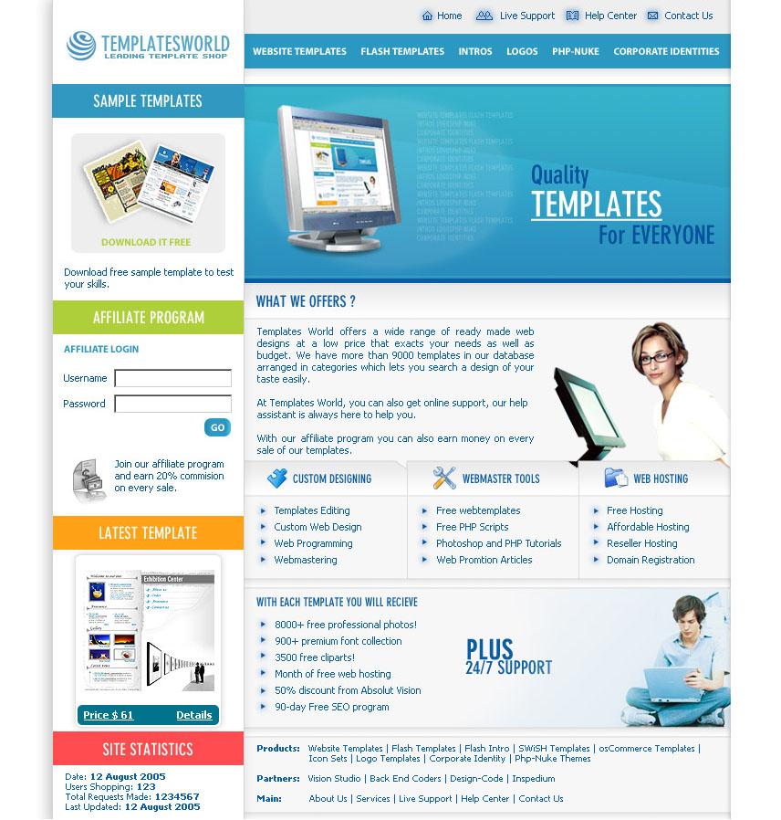 Template Portal PSD free