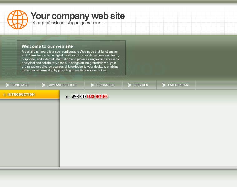 Web Template PSD 014