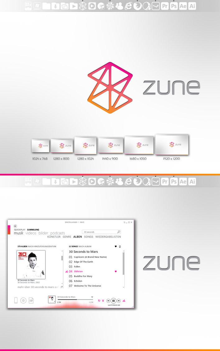 Zune Desktop Pack PSD